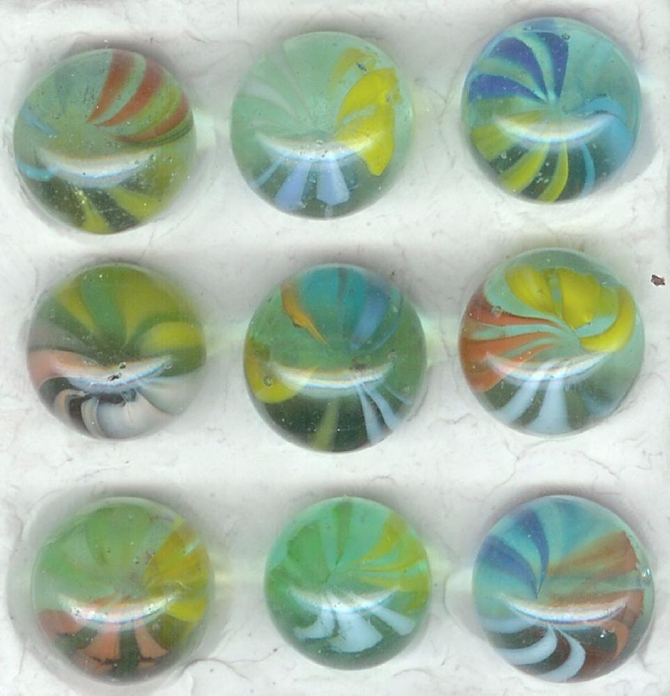9-vane, 3-color Cateyes