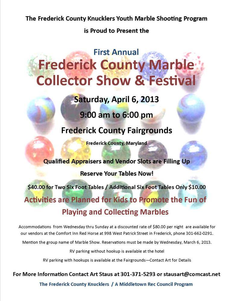 Frederick Marble Show   Vendor Notice