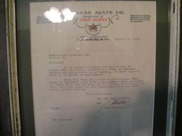 akro agate letterhead. john moulton signature. rare.jpg